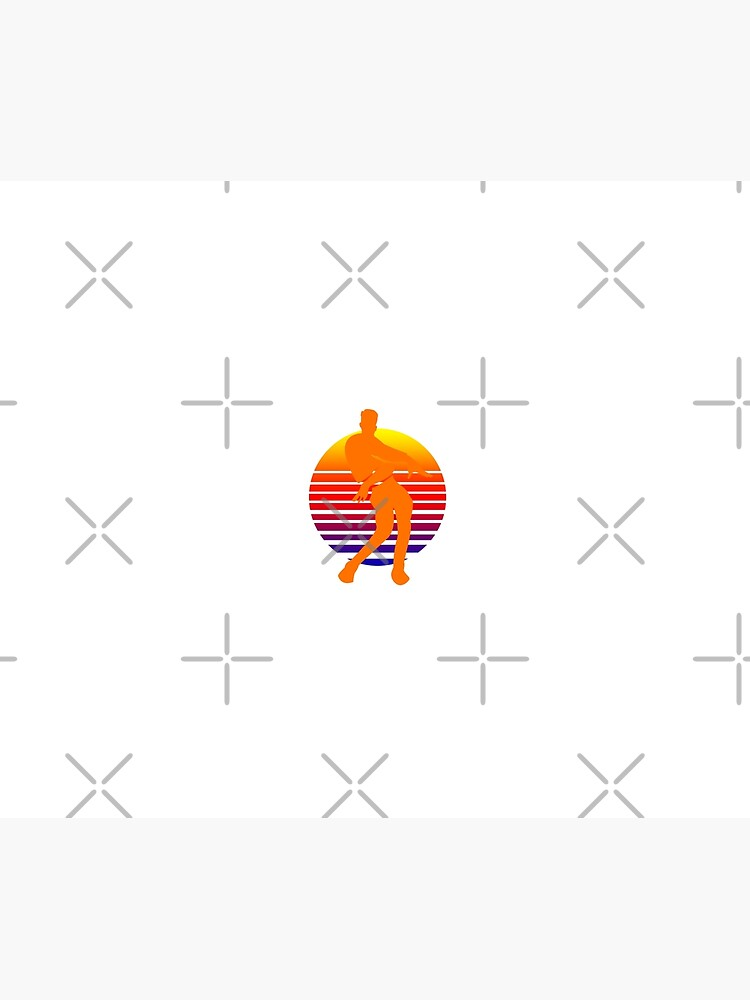 Orange Justice Dance Retro Duvet Cover By Newmerchandise Redbubble