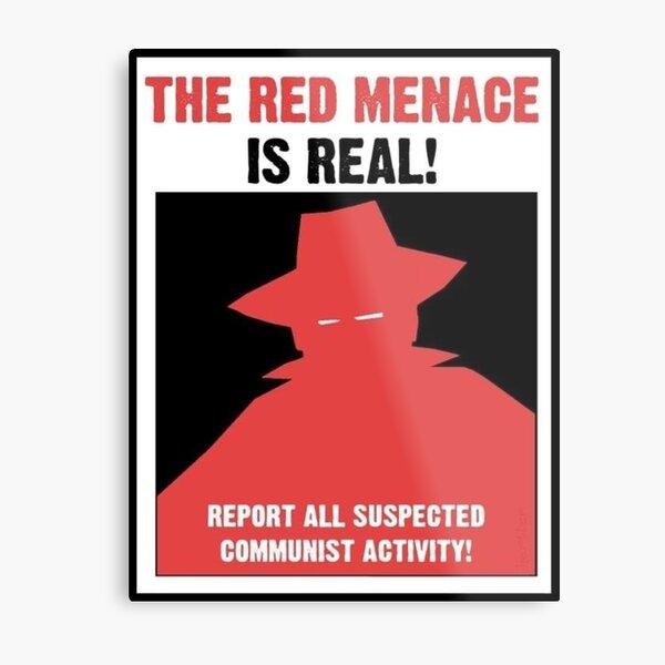 The Red Menace Propaganda Poster Metal Print