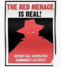 Das rote Bedrohungspropaganda-Plakat Poster