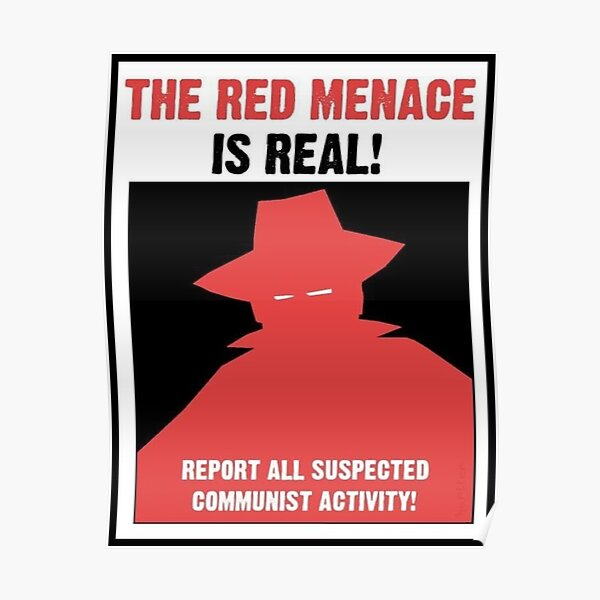 The Red Menace Propaganda Poster Poster