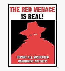 Das rote Bedrohungspropaganda-Plakat Fotodruck