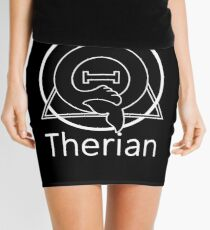 "PD (ytb) Theta-Delta Therian Symbol WHITE ""THERIAN"" Mini Skirt"