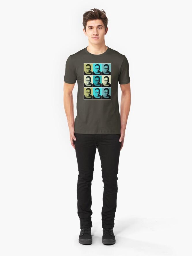 Alternate view of RBG - Greens - I Dissent Slim Fit T-Shirt