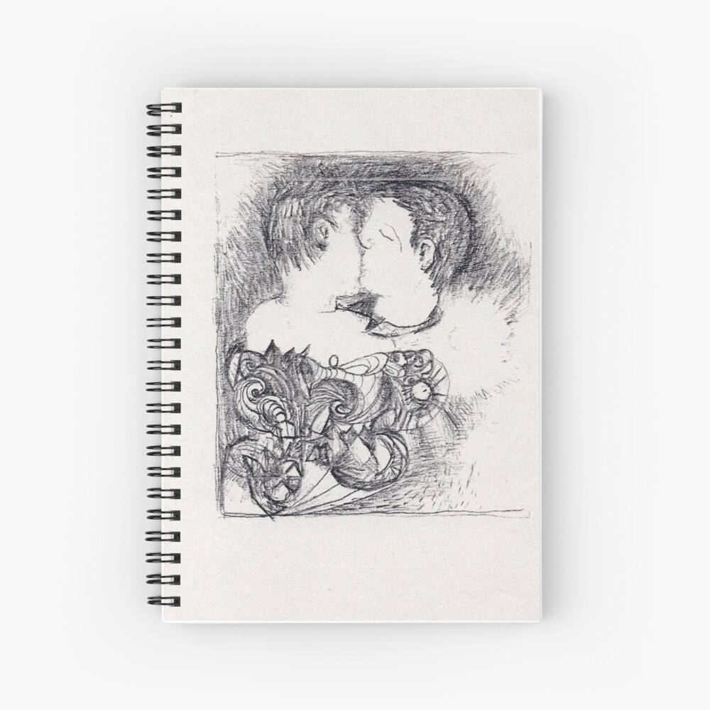 """kiss"" Spiral Notebook By Bingoball"