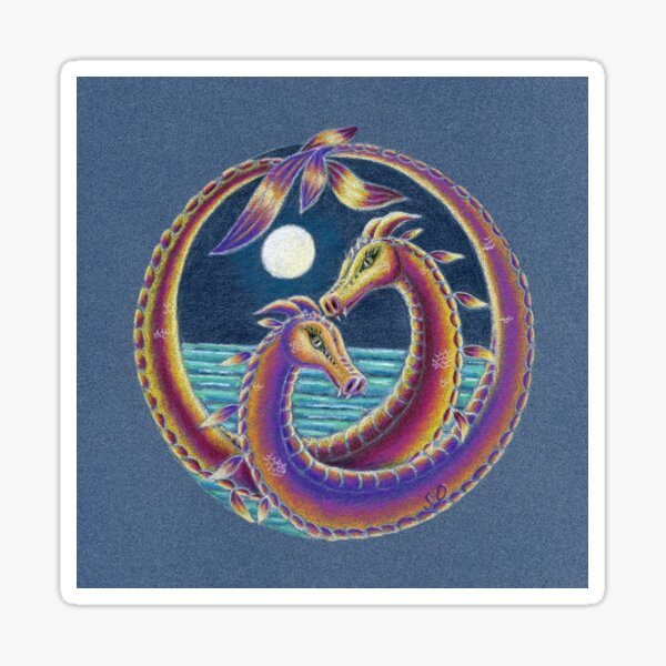 Dragon Lovers (Together at Spring Tide) Sticker