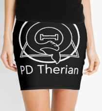 "PD (ytb) Theta-Delta Therian Symbol WHITE ""PD Therian"" Mini Skirt"