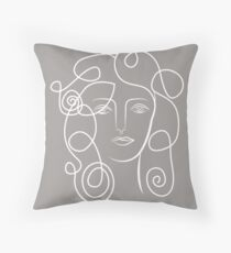 One Line Woman / Picasso Throw Pillow