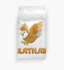 Nathan Eagle Sticker Duvet Cover