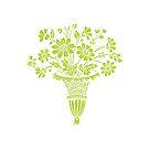 flower bouquet in light green in vase by coralZ