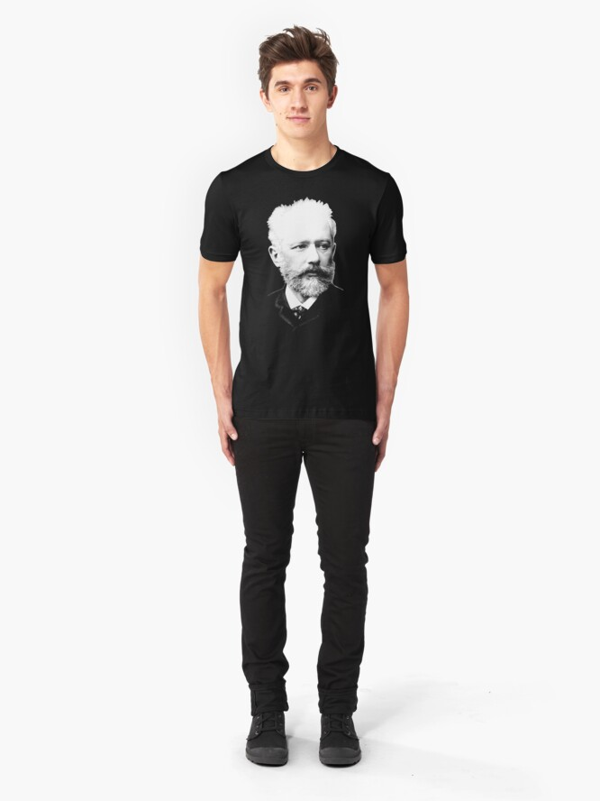Alternate view of Pyotr Ilyich Tchaikovsky - Great Russian Composer Slim Fit T-Shirt