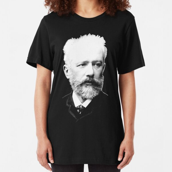Pyotr Ilyich Tchaikovsky - Great Russian Composer Slim Fit T-Shirt
