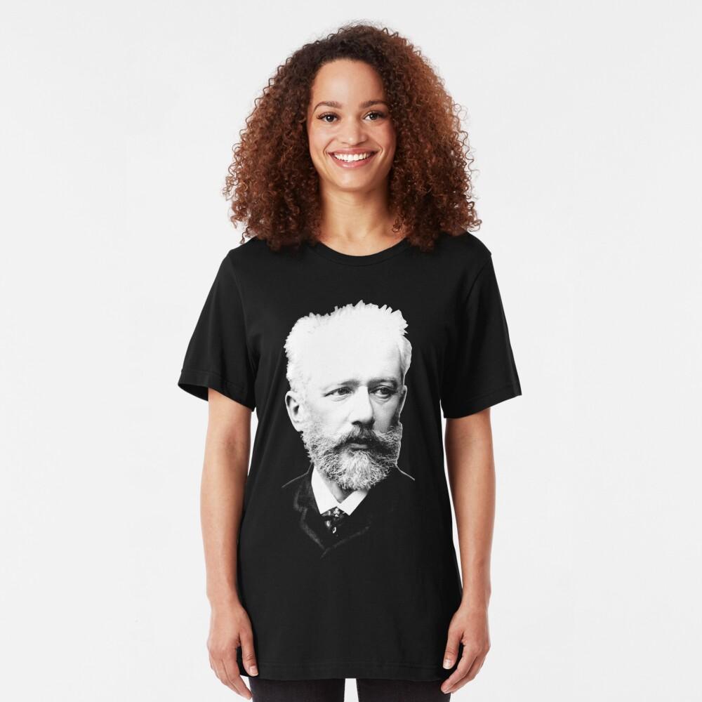 Pyotr Ilyich Tchaikovsky - Great Russian Composer Slim Fit T-Shirt