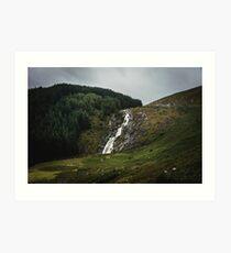 Wicklow Mountains National Park Ireland II - Glenmacnass Waterfall Nature Photography Art Print