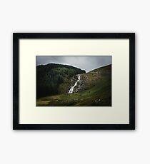 Wicklow Mountains National Park Ireland II - Glenmacnass Waterfall Nature Photography Framed Print