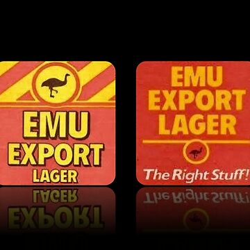 Emu Export Retro Logo - Reflection Style by Jtunes84