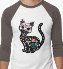 Dia de los Gatos Men's Baseball ¾ T-Shirt