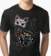 Dia de los Gatos Tri-blend T-Shirt