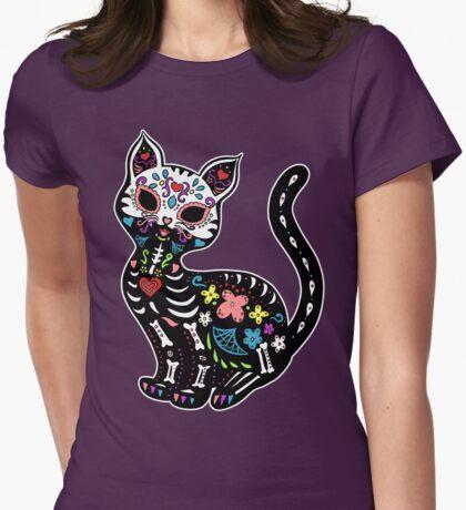 Dia de los Gatos Womens Fitted T-Shirt