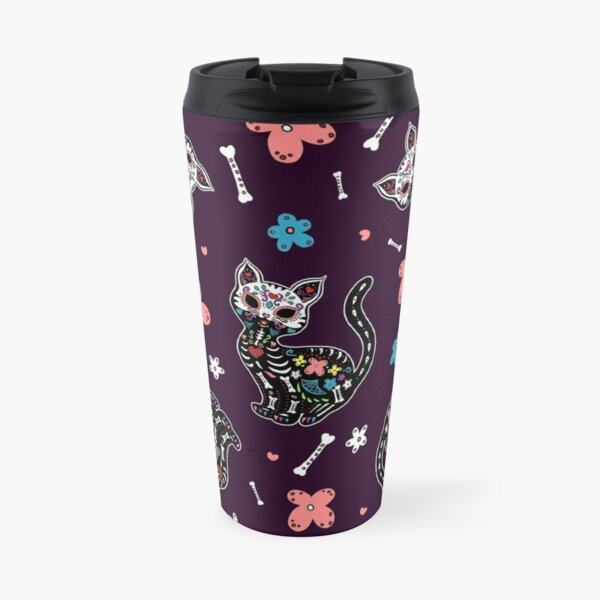 Dia de los Gatos Travel Mug