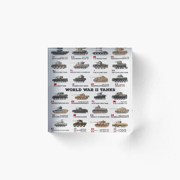 World War II Tanks Acrylic Block