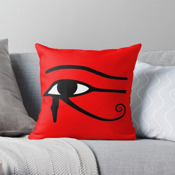 Egyptian Eye of Horus Throw Pillow