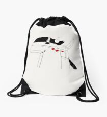 Broken pants Drawstring Bag