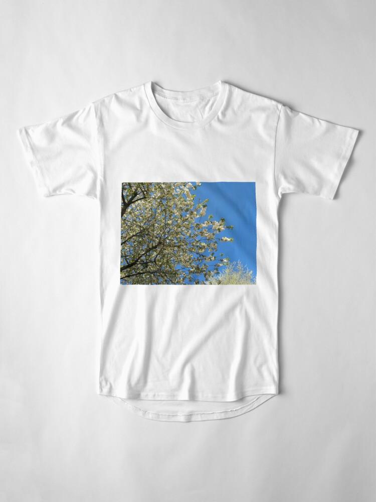 Alternative Ansicht von Weiße Blüten des Frühlings Longshirt