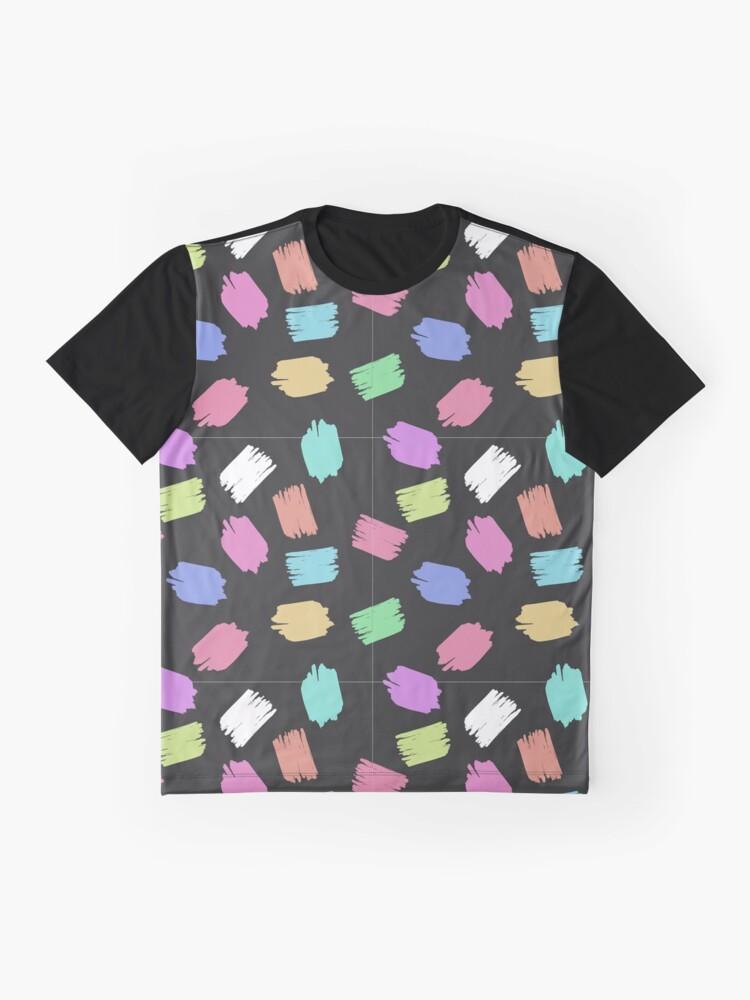 Alternative Ansicht von Farben Jung Modern Flecken Lustig verspielt Muster Grafik T-Shirt