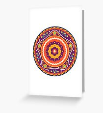 Vintage earth power mandala  Greeting Card