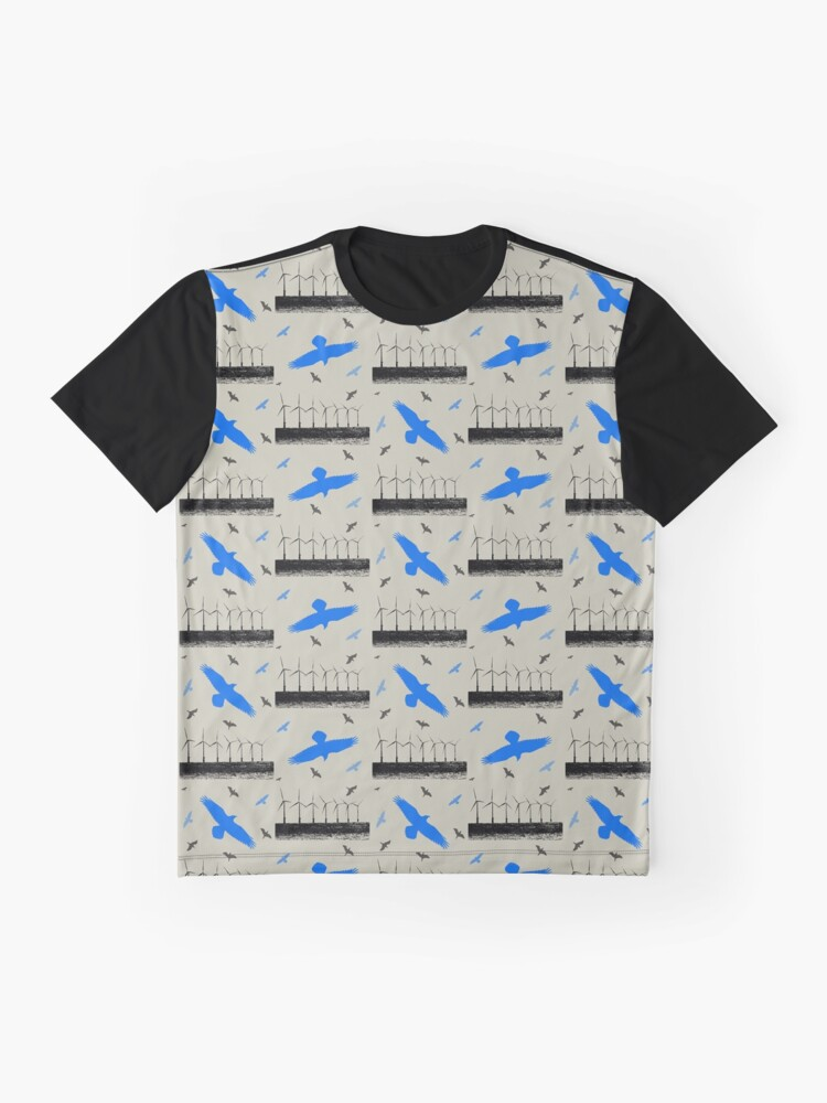 Alternate view of Wind Turbines and Birds Graphic T-Shirt