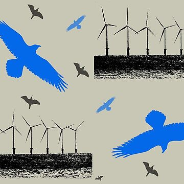 Wind Turbines and Birds by chihuahuashower