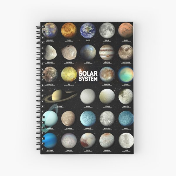 The Solar System Spiral Notebook