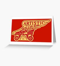 Artistic Roller Rink Greeting Card