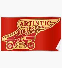 Artistic Roller Rink Poster