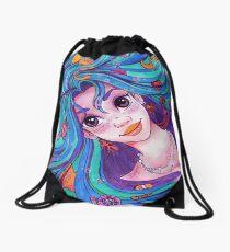Mermiad Hair Don't Care Drawstring Bag