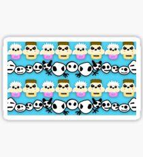 Zef Ninja and Yolandi Cupcake Pattern Sticker