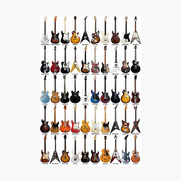 Guitar Legends Photographic Print