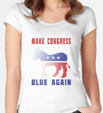 Make Congress Blue Again Women's Fitted Scoop T-Shirt