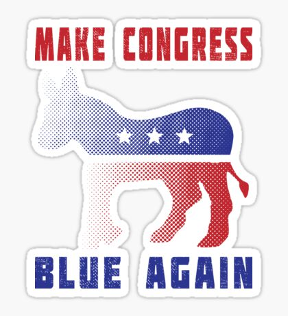 Make Congress Blue Again Sticker
