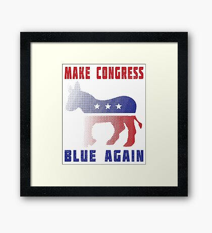 Make Congress Blue Again Framed Print