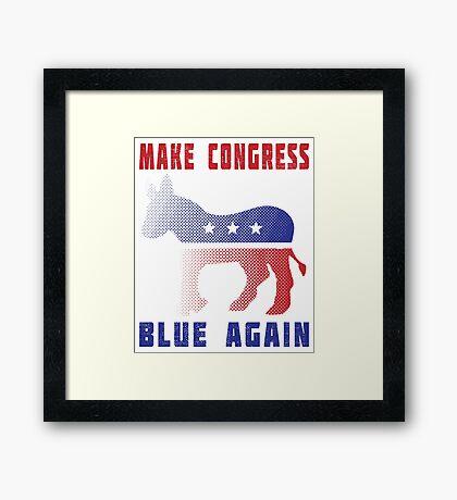 Make Congress Blue Again Framed Print
