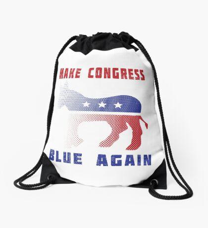 Make Congress Blue Again Drawstring Bag
