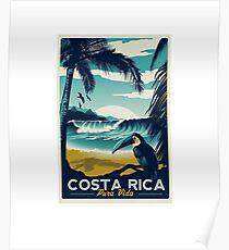 Costa Rica Beach Travel  Poster