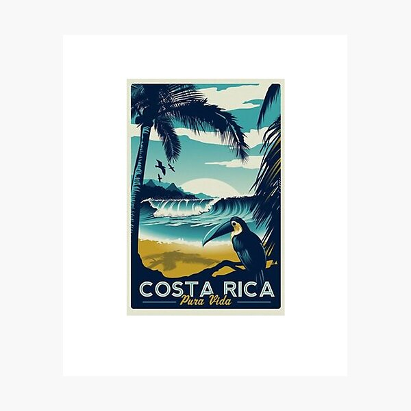 Costa Rica Beach Travel  Photographic Print