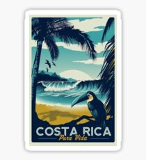 Costa Rica Beach Travel  Sticker