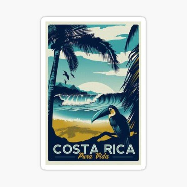 Viajes a la playa de Costa Rica Pegatina