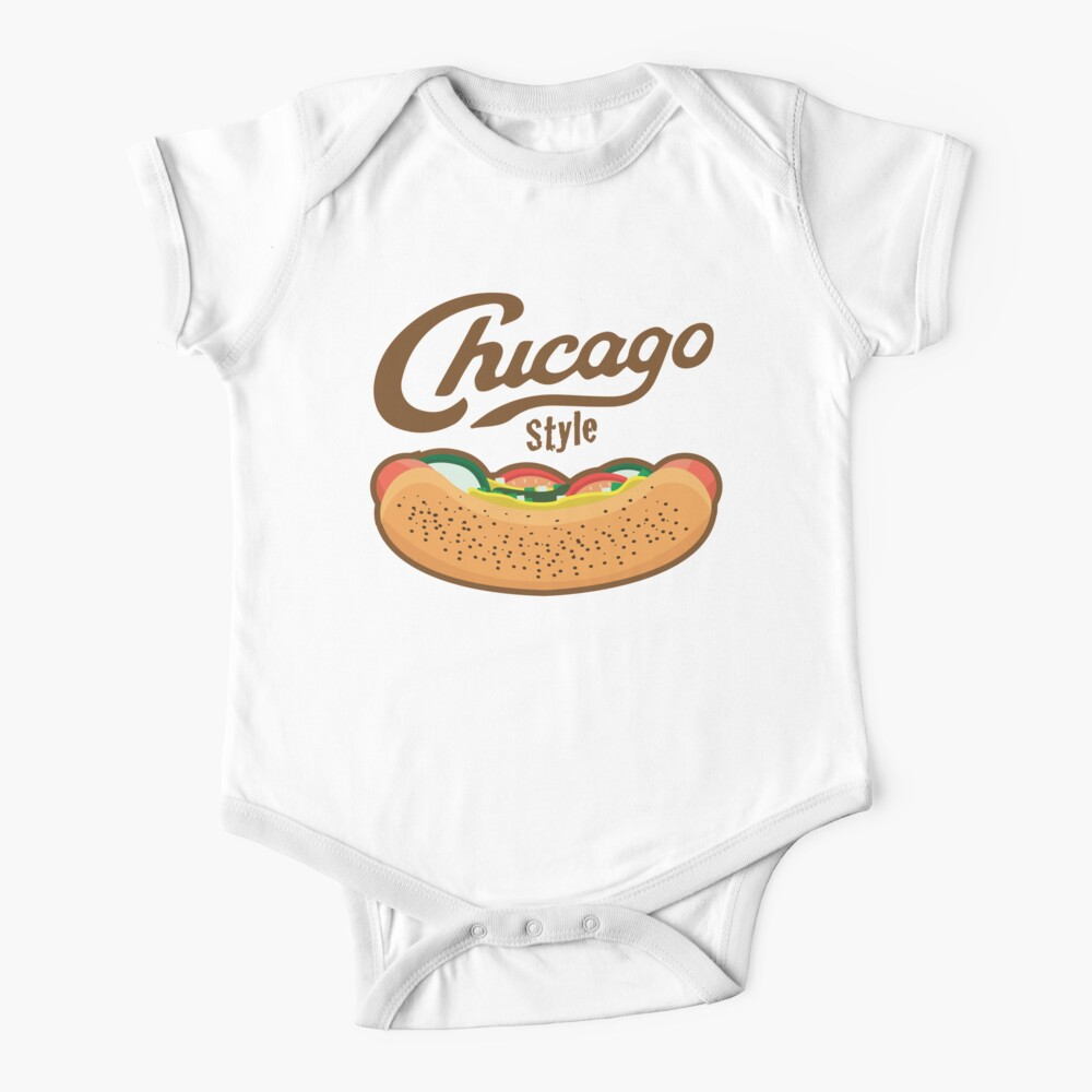 Chicago Style Hot Dog  Baby One-Piece