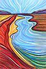 Pastels - Aerial Landscape - Redbanks by Georgie Sharp