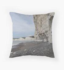 Chalk Cliffs Throw Pillow
