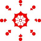 Geometric pattern vector background in red by ikshvaku